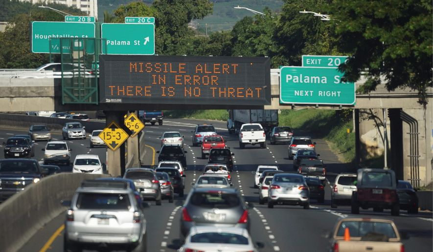 Officials reportedly knew in 10 minutes that the alert had been sent accidentally. They posted a message on Twitter and took nearly 30 minutes to send a second cellphone message. (Associated Press)