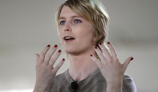 In this Sunday, Sept. 17, 2017, file photo, Chelsea Manning speaks during the Nantucket Project's annual gathering in Nantucket, Mass. (AP Photo/Steven Senne)