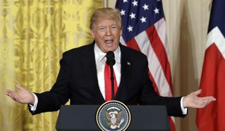 In this Jan. 10, 2018, file photo, President Donald Trump speaks during a news conference in the East Room of the White House in Washington. The Trump administration is preparing to withhold tens of millions of dollars from the U.N. agency for Palestinian refugees, cutting the year's first contribution by more than half or perhaps entirely, and making additional donations contingent on major changes to the organization, according to U.S. officials. (AP Photo/Evan Vucci, File)