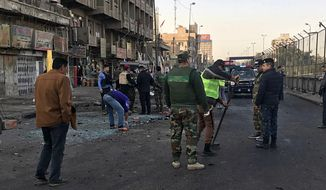 As evidence of Islamic States continued lethality, two suicide bombers on Jan. 15 simultaneously detonated explosive belts that killed over 35 people at a Baghdad square where day laborers gathered. (Associated Press/File)