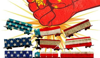 China Foothold in U.S. Transit Illustration by Greg Groesch/The Washington Times