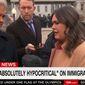 White House Press Secretary Sarah Huckabee Sanders speaks with reporters outside the White House on Jan. 16, 2018. (Image: CNN screenshot)
