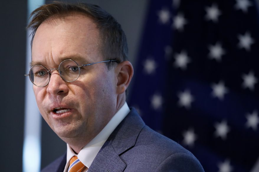 In this Monday, Nov. 27, 2017, file photo, Mick Mulvaney speaks during a news conference after his first day as acting director of the Consumer Financial Protection Bureau in Washington. (AP Photo/Jacquelyn Martin, File)