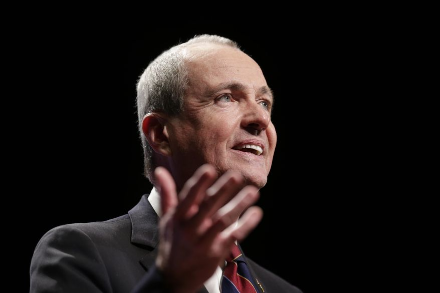 New Jersey Gov. Phil Murphy speaks during an inauguration ceremony in Trenton, N.J., Tuesday, Jan. 16, 2018. Democrat Phil Murphy became the state's 56th governor, succeeding Republican Chris Christie after he was sworn in at the War Memorial in Trenton Tuesday (AP Photo/Seth Wenig)