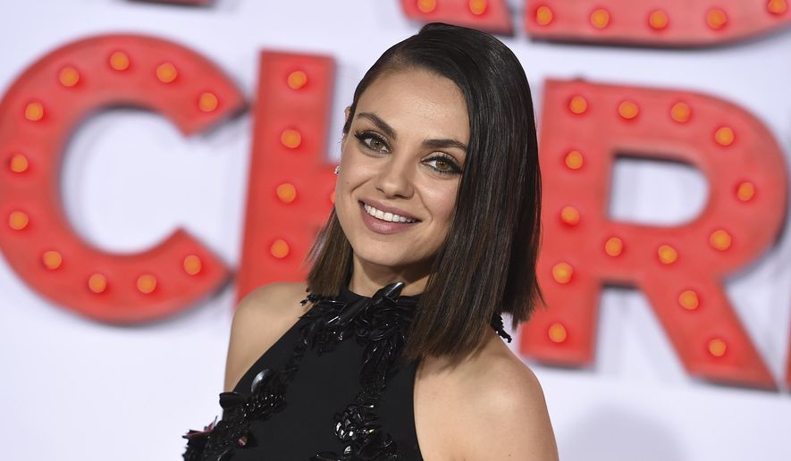 """Mila Kunis arrives at the Los Angeles premiere of """"A Bad Moms Christmas,"""" Oct. 30, 2017. (Photo by Jordan Strauss/Invision/AP) ** FILE **"""