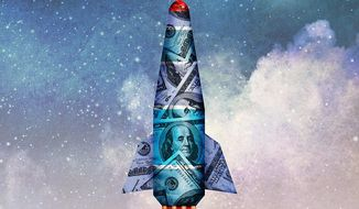 Taxpayer Money Lost in  Space Illustration by Greg Groesch/The Washington Times