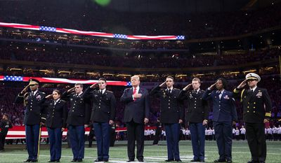 President Donald J. Trump participates in on field ceremonies at the 2018 College Football Playoff National Championship between the University of Alabama Crimson Tide and the University of Georgia Bulldogs | January 8, 2018 (Official White House Photo by Shealah Craighead)