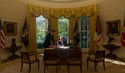 President Donald J. Trump in the Oval Office | October 17, 2017 (Official White House Photo by D. Myles Cullen)