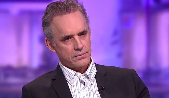Clinical psychologist Dr. Jordan B. Peterson sits down for an interview with Channel 4 journalist Cathy Newman. (Image: YouTube, Channel 4 screenshot) ** FILE **