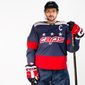 Washington Capitals star Alex Ovechkin wearing the Capitals' 2018 Stadium Series uniform. (Photo courtesy of the Washington Capitals.)