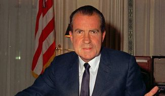 Former President Richard Nixon. (Associated Press) ** FILE **