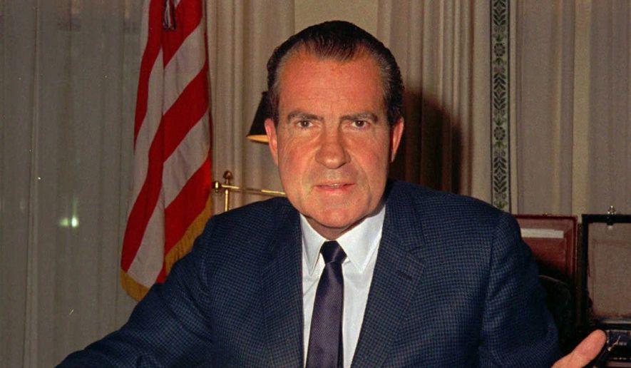 Former President Richard Nixon. (Associated Press) ** FILE **