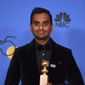 "Comedian Aziz Ansari, who produces and writes for the Netflix show ""Master of None,"" has been accused by a 22-year-old Brooklyn-based photographer of sexual assault stemming from an encounter on Sept. 25. (Associated Press)"