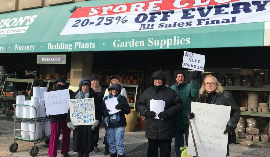 Johnson S Florist And Garden Center In Tenleytown To Close Cites Raised Washington Times