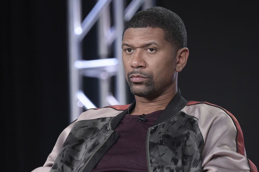 """Jalen Rose participates in the """"Get Up"""" panel during the ESPN Television Critics Association Winter Press Tour on Friday, Jan. 12, 2018, in Pasadena,Calif. (Photo by Richard Shotwell/Invision/AP)"""