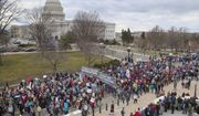 Pro-life demonstrators arrive on Capitol Hill for the March for Life, marking the anniversary of the 1973 Supreme Court decision legalizing abortion. Organizers say Donald Trump will become the first sitting president to address the gathering, speaking live from the White House. (Associated Press)