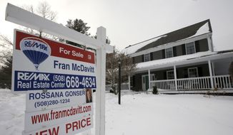 This Monday, Jan. 8, 2018, photo, shows an existing home for sale in Walpole, Mass. (AP Photo/Steven Senne)