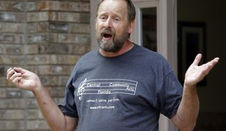 FILE - In this Monday, Oct. 2, 2017 file photo, Eric Paddock, brother of Las Vegas shooter Stephen Paddock, speaks to members of the media outside his home in Orlando, Fla. Officials in Las Vegas say the cremated remains of the gunman in the worst mass shooting in modern U.S. history have been turned over to his brother. Clark County Coroner John Fudenberg said in a statement that Stephen Paddock's ashes were given to Paddock's brother, Eric Paddock, Thursday, Jan. 18, 2017. (AP Photo/John Raoux, File)