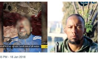 """Denis Cuspert, the former rapper known as """"Deso Dogg,"""" was reportedly killed in eastern Syria while fighting for ISIS. (Image: Twitter, Rita Katz, Director of SITE Intelligence Group)"""