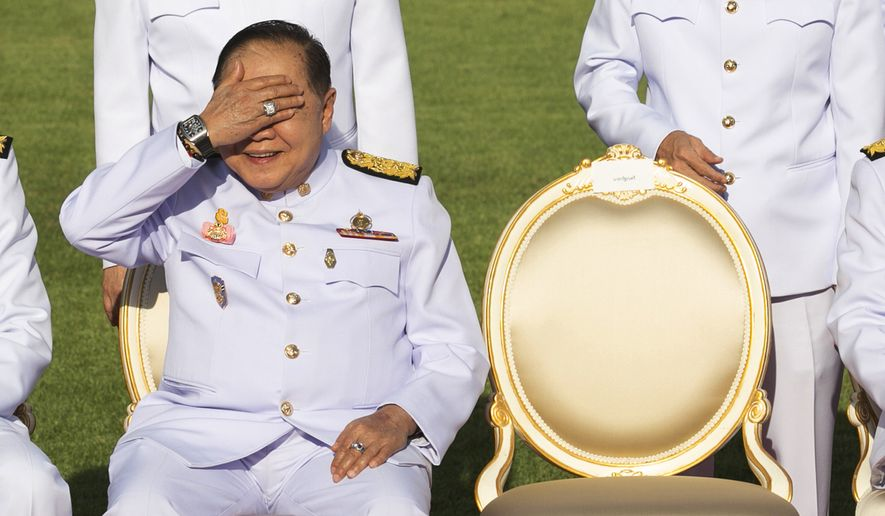 Defense Minister Gen. Prawit Wongsuwan's troubles threaten to dent Prime Minister Chan-ocha Prayuth's popularity because the two lifelong friends have tried to project an image of incorruptibility and nationalism. (Associated Press/File)