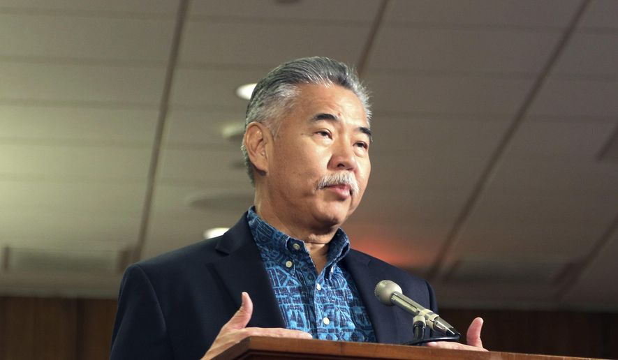 Hawaii Gov. David Ige answers questions during a hearing in Honolulu, Friday, Jan. 19, 2018. Lawmakers want to learn the circumstances of an emergency alert mistakenly sent over the weekend that warned island residents and visitors of a ballistic missile attack.(AP Photo/Jennifer Sinco Kelleher).