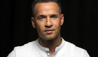"""FILE - This Sept. 9, 2013 file photo shows reality television star from the MTV Series """"Jersey Shore,"""" Mike """"The Situation"""" Sorrentino in New York. One of the former stars of the """"Jersey Shore"""" reality TV show is expected to plead guilty to cheating on his taxes. Sorrentino and his brother are scheduled to appear in federal court in Newark on Friday, Jan. 19, 2018. (Photo by Drew Gurian/Invision/AP, File)"""