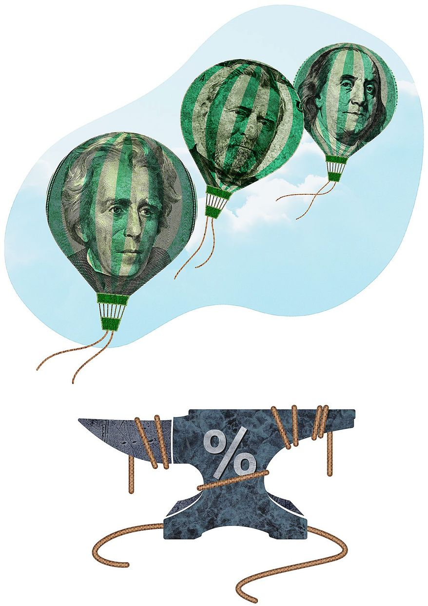 Tax Cut Balloons Illustration by Greg Groesch/The Washington Times