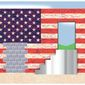 Illustration on merit-based immigration policy by Alexander Hunter/The Washington Times