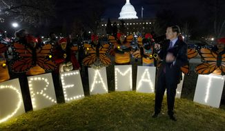 Sen. Richard Blumenthal D-Conn., speaks during a rally in support of Deferred Action for Childhood Arrivals (DACA) outside of the Capitol, Sunday, Jan. 21, 2018, in Washington. (AP Photo/Jose Luis Magana) ** FILE **