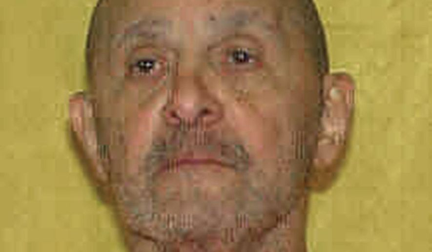 FILE - This undated file photo provided by the Ohio Department of Rehabilitation and Correction shows death row inmate Alva Campbell, convicted of fatally shooting Charles Dials of Columbus, Ohio, during a carjacking after Campbell escaped from police custody during a 1997 court appearance in Columbus, Ohio. In a January 2018 court filing, Campbell's attorneys once again recommended a firing squad as an alternative to lethal injection, after the state couldn't find a usable vein during an attempt to execute Campbell on Nov. 15, 2017, that was stopped after 25 minutes of unsuccessful needle sticks. (Ohio Department of Rehabilitation and Correction via AP, File)