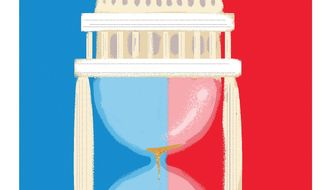 Illustration on the need for term limits by Linas Garsys/The Washington Times