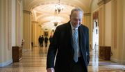 "Senate Minority Leader Chuck Schumer said ""the great deal-making President sat on the sidelines"" during weekend talks to end the government shutdown. (Associated Press)"