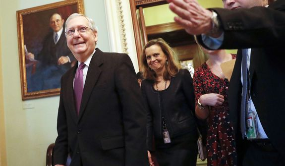 Senate Majority Leader Mitch McConnell, Kentucky Republican, promised a full debate on immigration in coming weeks. (Associated Press)