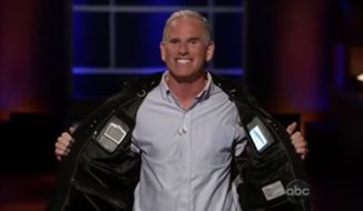 """SCOTTeVEST founder Scott Jordan was rebuked by his own clothing company over the weekend after he posted on Facebook that Fox News viewers are """"f---ing idiots."""" Mr. Jordan failed to clinch a deal on ABC's Shark Tank with his """"Technology Enabled Clothing"""" (TEC) patent in 2012. (ABC's """"Shark Tank"""")"""