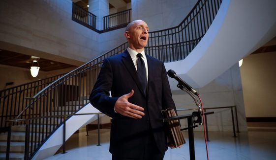 "Carter Page, a foreign policy adviser to Donald Trump's 2016 presidential campaign, calls testimony against him ""a desperate smear job."" (Associated Press/File)"
