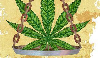 Marijuana Laws Illustration by Greg Groesch/The Washington Times