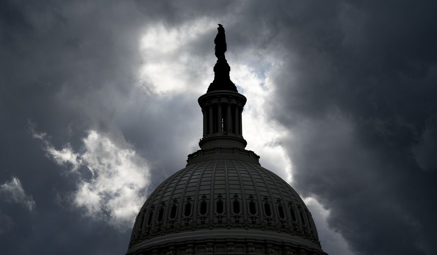 The Dome of the Capitol Building in Washington, Tuesday, Jan. 23, 2018. (AP Photo/Andrew Harnik)