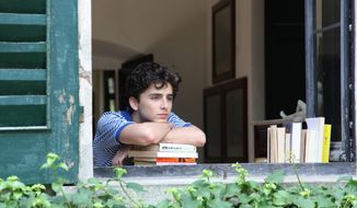 "This image released by Sony Pictures Classics shows Timothee Chalamet in a scene from ""Call Me By Your Name."" Chalamet was nominated for an Oscar for best actor on Tuesday, Jan. 23, 2018. The 90th Oscars will air live on ABC on Sunday, March 4. (Sony Pictures Classics via AP)"
