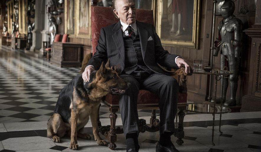 "This image released by Sony Pictures shows Christopher Plummer in a scene from ""All the Money in the World."" Plummer was nominated for an Oscar for best supporting actor on Tuesday, Jan. 23, 2018. The 90th Oscars will air live on ABC on Sunday, March 4. (Giles Keyte/Sony Pictures via AP)"
