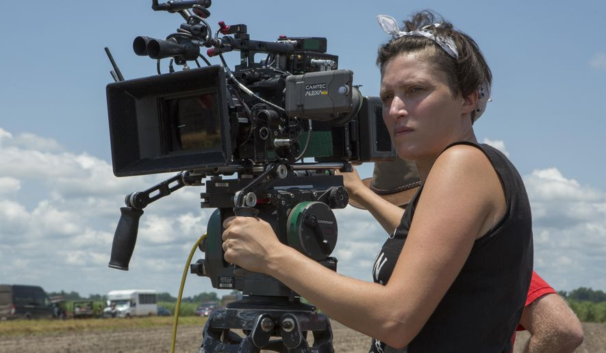 "This image released by Netflix shows Rachel Morrison on the set of the film ""Mudbound."" Morrison was nominated for an Oscar for best cinematography on Tuesday, Jan. 23, 2018. The 90th Oscars will air live on ABC on Sunday, March 4. (Steve Dietl/Netflix via AP)"