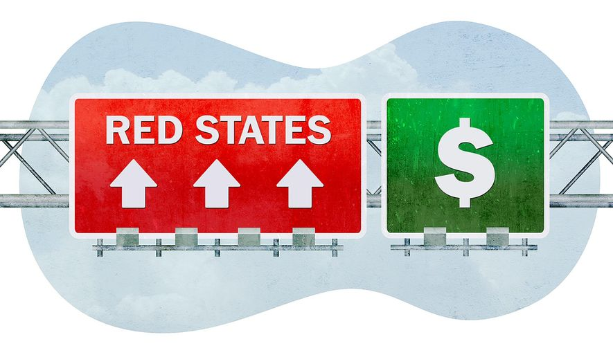 Red States Illustration by Greg Groesch/The Washington Times