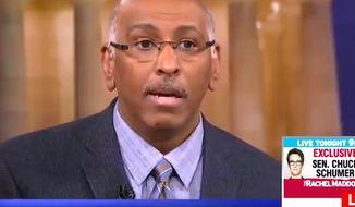 "Former RNC chairman Michael Steele appeared on MSNBC's ""Hard Ball with Chris Matthews"" on Tuesday, Jan. 23, 2018. (Image: MSNBC screenshot)"