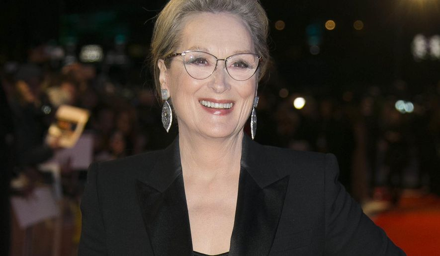 "FILE - In this Jan. 10, 2018 file photo, actress Meryl Streep poses for photographers at the premiere of ""The Post"" in London. Streep will join the cast of HBO's ""Big Little Lies,"" playing Mary Louise Wright, mother-in-law of Nicole Kidman's character Celeste Wright. (Photo by Joel C Ryan/Invision/AP, File)"