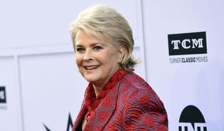"Actress Candice Bergen arrives at the 45th AFI Life Achievement Award Tribute to Diane Keaton in Los Angeles, June 8, 2017. CBS has given a 13-episode, series production commitment to a revival of ""Murphy Brown,"" with Bergen reprising her role. (Photo by Chris Pizzello/Invision/AP) ** FILE **"