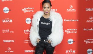 "Actress Jada Pinkett Smith poses during the premiere of ""Skate Kitchen"" at the Library Theatre during the 2018 Sundance Film Festival on Sunday, Jan. 21, 2018, in Park City, Utah. (Photo by Arthur Mola/Invision/AP)"