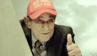 """A character named Dr. Thaddeus Q. They appears in a """"MAGA"""" hat during an """"X-Files"""" episode, which aired Jan. 24, 2018. (Image: Fox screenshot)"""