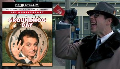 """Stephen Tobolowsky as the obnoxious insurance salesman Ned Ryerson in """"Groundhog Day: 25th Anniversary Edition,"""" now available on 4K Ultra HD from Sony Pictures Home Entertainment."""