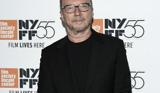 """FILE - In this Oct. 5, 2017 file photo, director Paul Haggis attends the world premiere of """"Spielberg"""", during the 55th New York Film Festival in New York. A scheduled deposition of Haggis in a lawsuit in which the Oscar-winner is accused of rape will not go forward as planned next week. Attorneys for Haleigh Breest, a publicist who says he raped her in 2013, scheduled Haggis to give sworn testimony on Monday. But his attorney, Christine Lepera, informed her attorneys on Thursday, Jan. 25, 2018, that the date didn't work. Haggis has denied the allegations and countersued Breest. (Photo by Evan Agostini/Invision/AP, File)"""