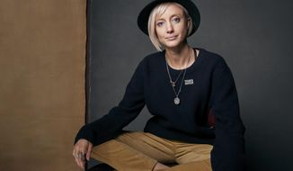 """Andrea Riseborough poses for a portrait to promote the film,""""Nancy,"""" at the Music Lodge during the Sundance Film Festival on Friday, Jan. 19, 2018, in Park City, Utah. (Photo by Taylor Jewell/Invision/AP)"""