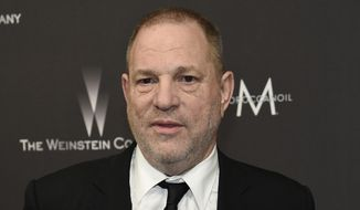 In this Jan. 8, 2017, file photo, Harvey Weinstein arrives at The Weinstein Company and Netflix Golden Globes afterparty in Beverly Hills, Calif. A former personal assistant for Harvey Weinstein alleges she was forced to undertake such tasks as cleaning up after his sexual encounters and taking dictation from him while he was naked. (Photo by Chris Pizzello/Invision/AP, File)